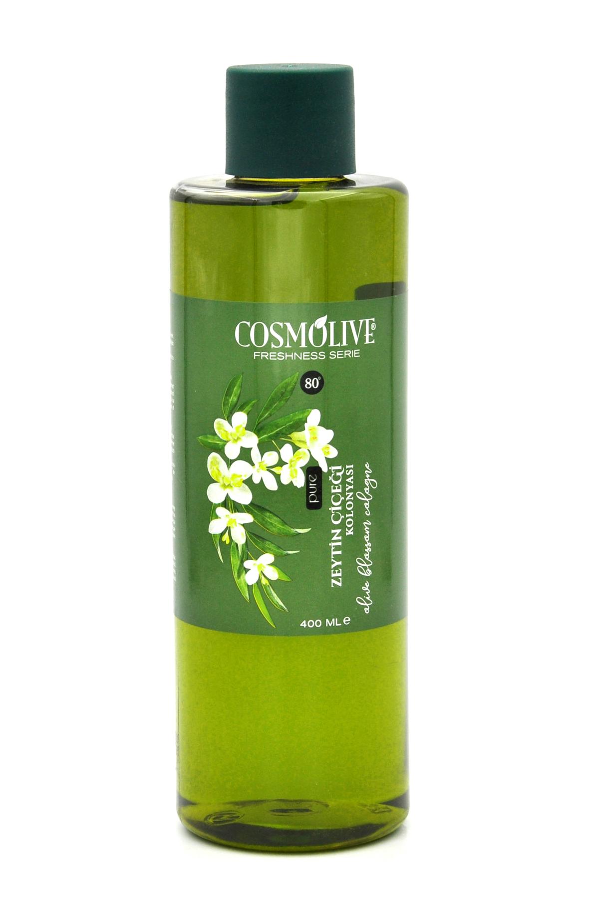 Cosmolive Zeytin Çiçeği Kolonyası 80° 400 ML (Plastik Şişe)