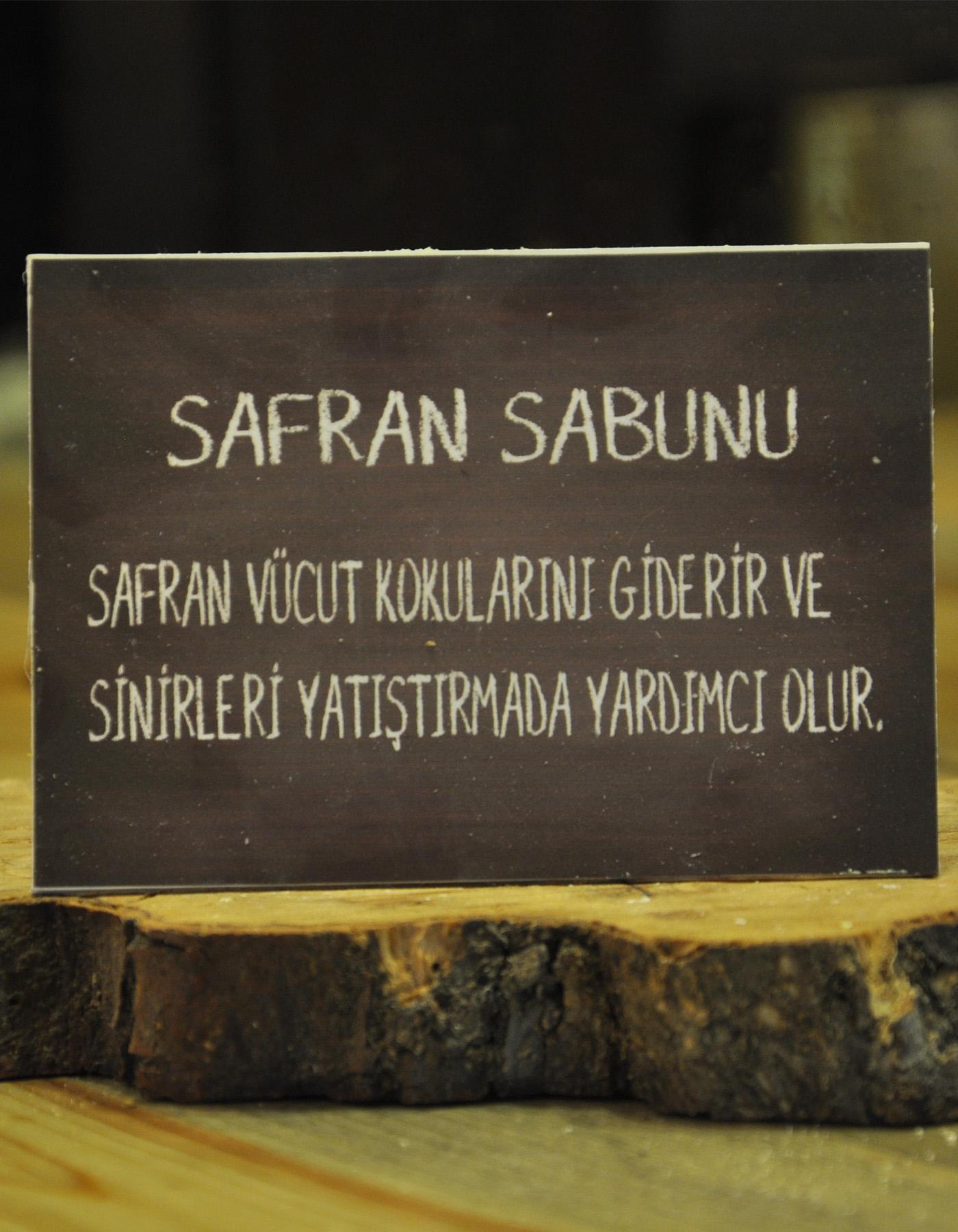El Yapımı Doğal Safran Sabunu 110 Gr.