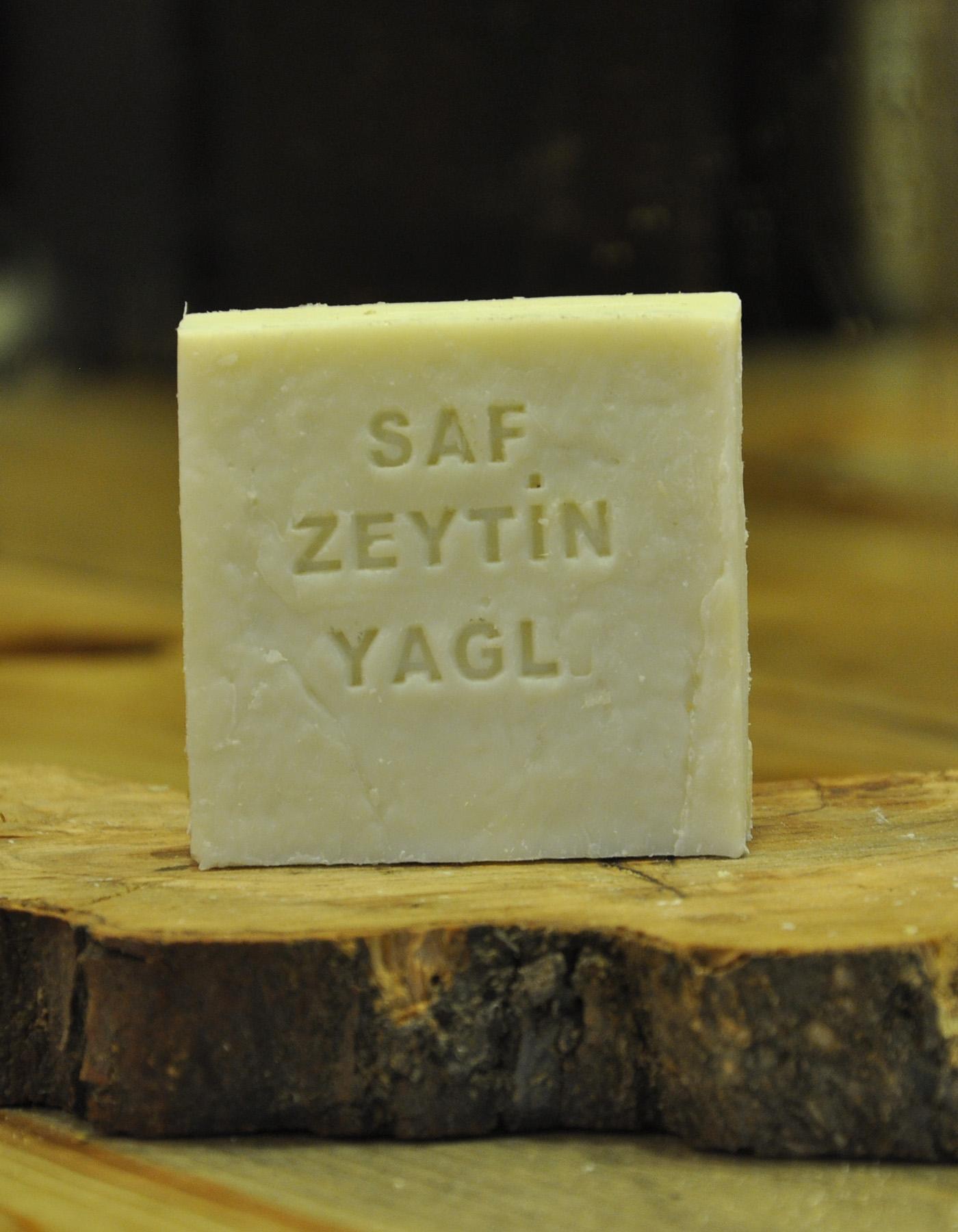 El Yapımı Doğal Zeytinyağlı Beyaz Sabun 110 Gr. - Thumbnail